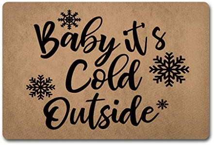 ZQH Mats Funny Door Mat Baby its Cold Outside Doormat Snow Flake Door Rugs Welcome Monogram Door Mats 23.6 X 15.7 in Anti-Slip Home Decor Doormat Prank Gift Door Mat For The Entrance Way Indoor Mats