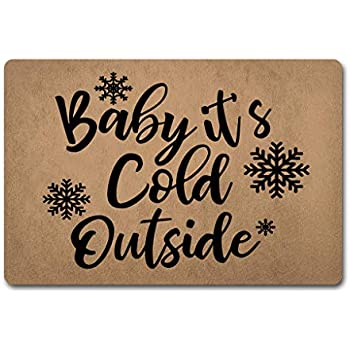 Amazon Com Zqh Welcomedoor Mat Baby Its Cold Outside