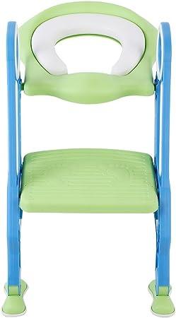 Zoternen - Reductor WC para niños, Asiento de Inodoro con Escalera Plegable y cojín Suave, Asiento para Inodoro Antideslizante para niños, Inodoro, Altura Regulable, de Polipropileno y Poliuretano: Amazon.es: Hogar