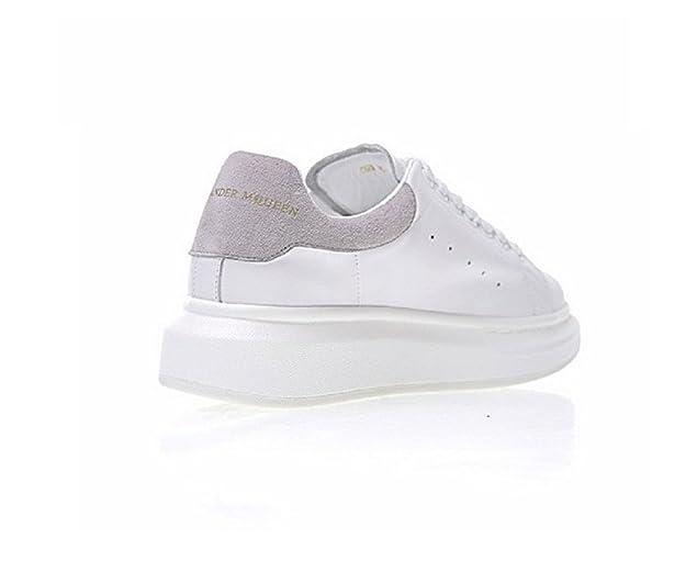 6402a15af73bb Femme Running Loisir Baskets Sole Sneakers - Entraînement Antichoc  Antidérapant Chaussures Baskets Sneakers Hautes Femme en Cuir Blanc Gris   Amazon.fr  ...