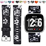 Maledan Bands Compatible with Fitbit Versa Women Men Large Small, Breathable Replacement Strap Accessories Wristbands Compatible with Fitbit Versa Watch/Versa 2/Versa Lite/Versa Special Edition