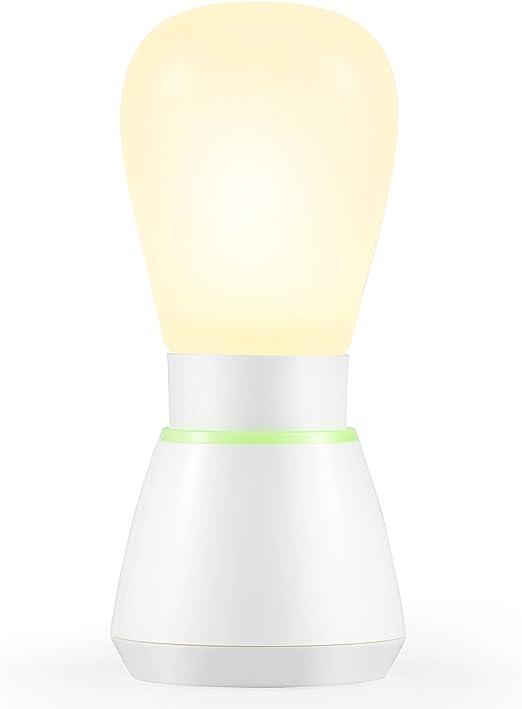 Kohree Lampe De Table Led Multifonction Lampe De Chevet Sans Fil Veilleuse Lampe De Nuit Lampe Portable Camping Tente Lampe A Pile Rechargeable