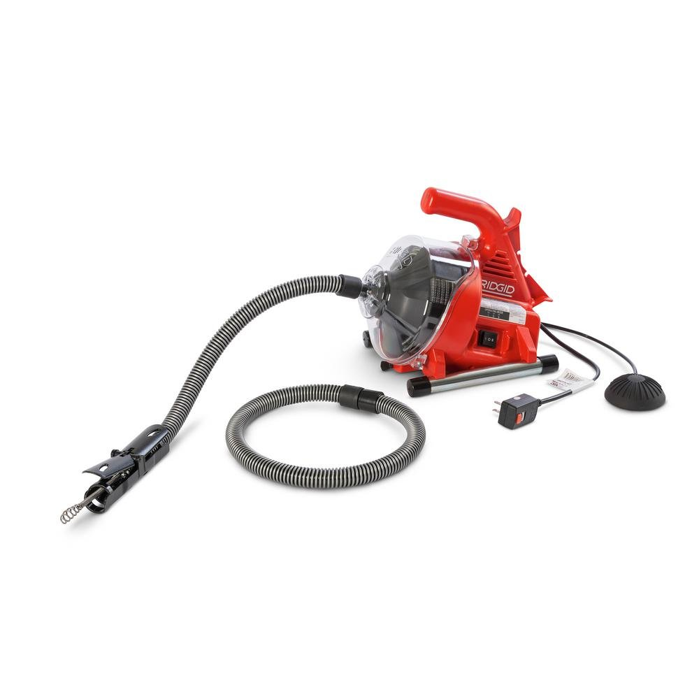 Ridgid 55808 PowerClear Drain Cleaning Machine 120V  Drain Cleaner Cleans Tub, Shower or Sink Blockages from 3/4'' to 11 /2'' diameter, Red