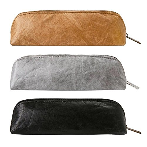 Walden Theory Pencil Pouch Washable Kraft Paper Eco-Friendly Design Creative Stationery Organizer