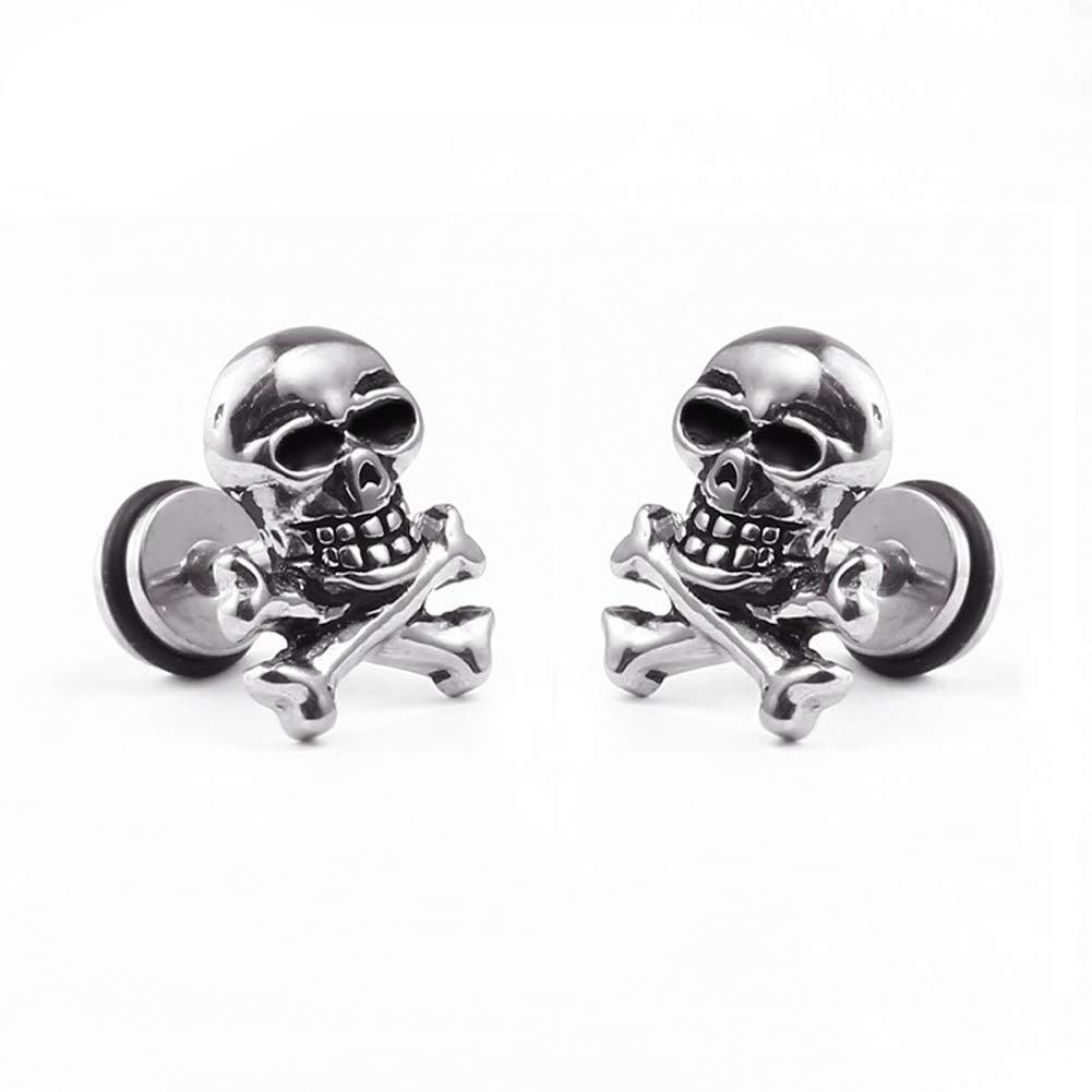 Ghost Head Stud Earring Skull Horrifying Earring Halloween Decoration Girl/Boy 1 PCS