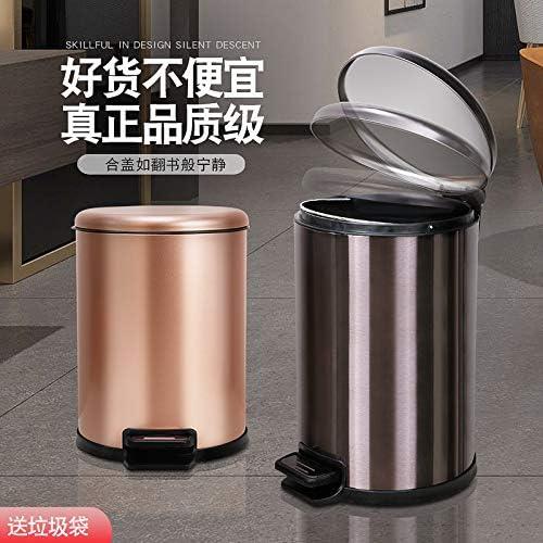 不锈钢垃圾桶北欧脚踏式脚踩带盖大号家用客厅卧室厨房卫生间创意