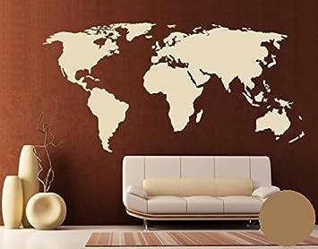 Wandtattoo Weltkarte Grosse 110cm X 56cm Farbe Gold Motiv Nr