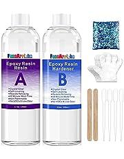 Epoxyhars Crystal Clear Resin Kit 500ml - 2-delige kunsthars Duidelijke coating en giethars voor kunst, ambacht, sieraden maken, riviertafels