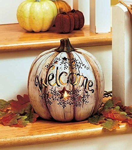 Lighted Country Welcome Pumpkin GetSet2Save product image