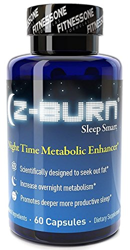 "Z-burn -- 60 Veggie Capsules -- Night Time Fat Loss Supplement - ""Sleep Great, Lose Weight!"" Guaranteed Results - Made with 100% NON-GMO Natural and Organic Ingredients and Gluten Free"