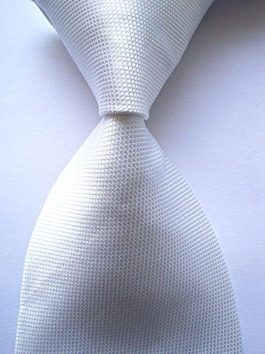 Woven Mini Labels - Scott Alain Creation - Neckties Classic Mini White Square 100% New Jacquard Woven Silk Men's Tie