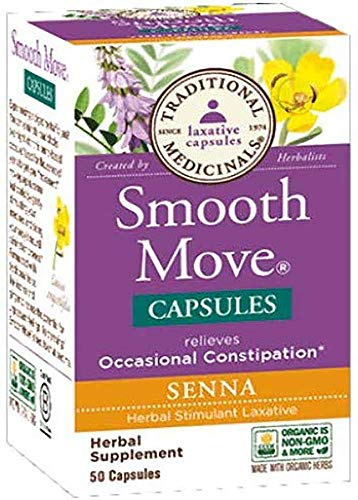 Traditional Medicinals, Smooth Move Senna, 50 Capsules (Smooth Move Capsules)