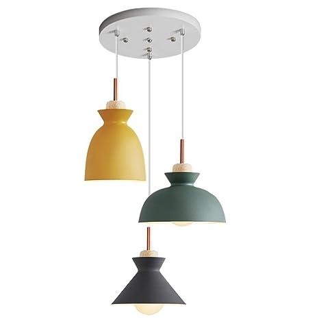 Moderno techo redondo aluminio lámpara pantalla Trio ...