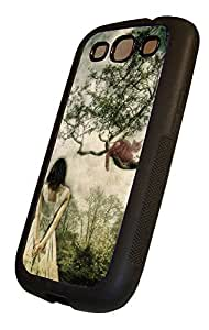 Alice in Wonderland Samsung Gaaxy S3 TPU Rubberized Case Black, Samsung Galaxy S3 TPU Rubberized Cover Black, by Sublifascination 8 by mcsharks