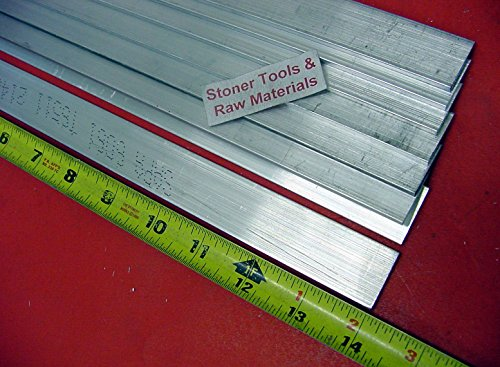 8 Pieces 1/8″ X 1-1/2″ ALUMINUM 6061 FLAT BAR 14″ long .125″ Plate Mill Stock