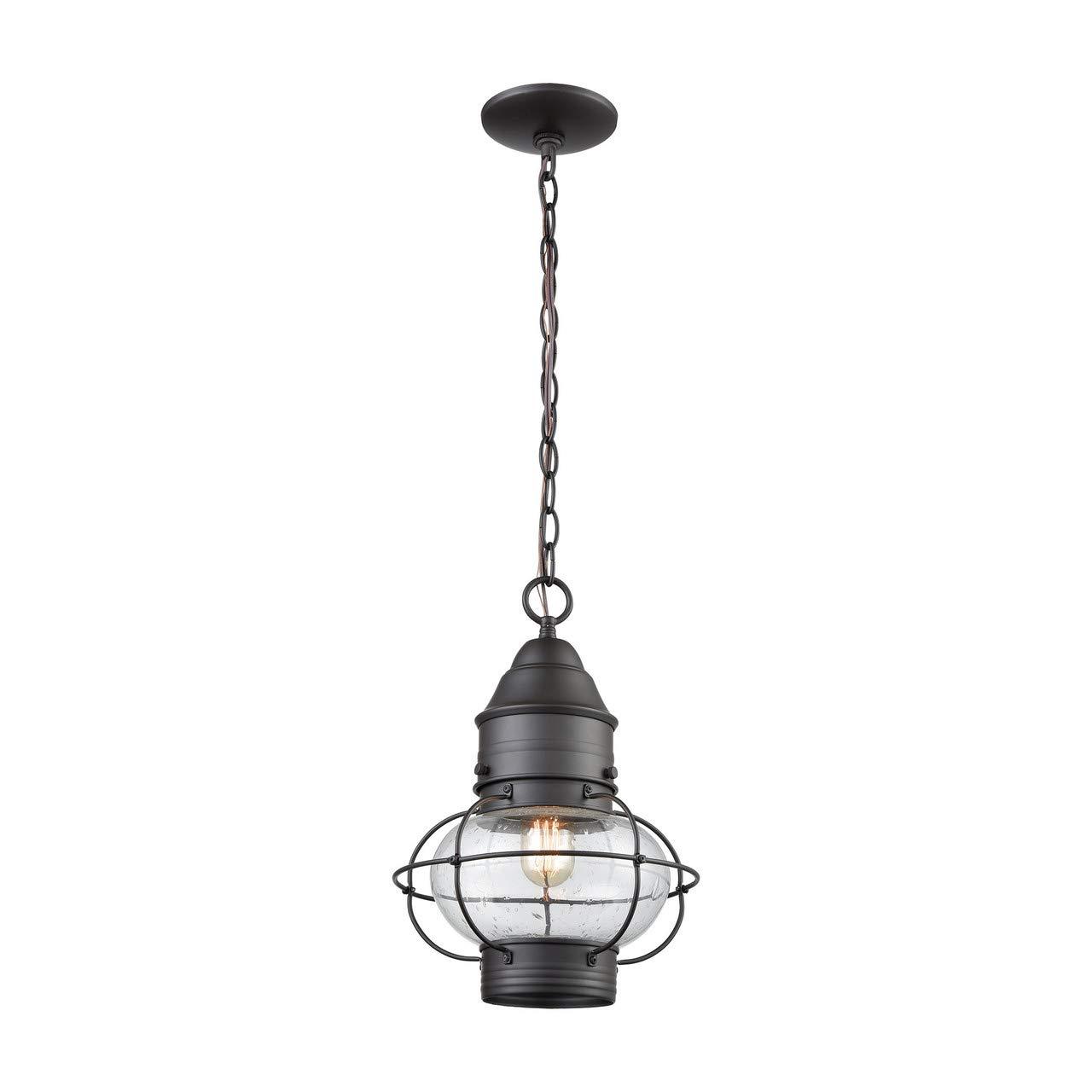 Elk Lighting 57183/1 Onion 1 Outdoor Pendant Oil Rubbed Bronze Hanging,