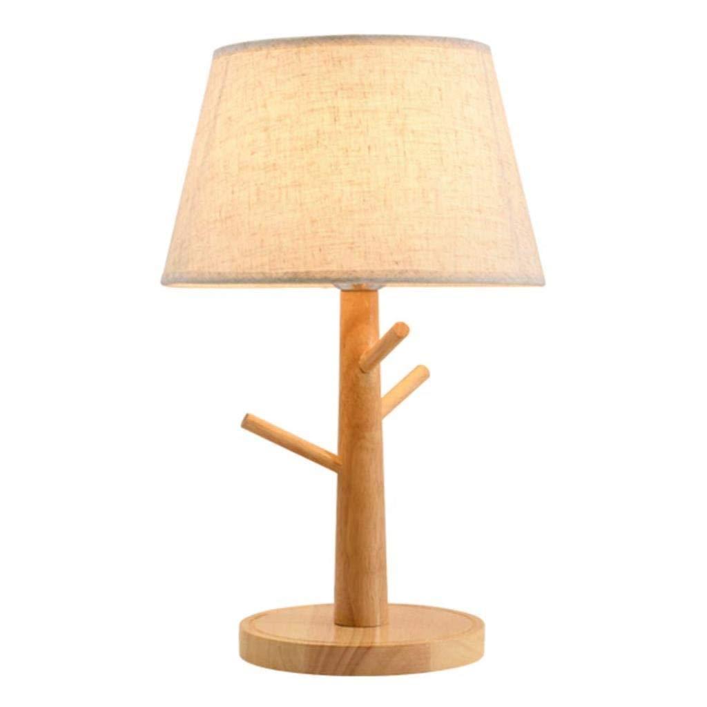 電気スタンドランプ室内照明テーブルランプ木製ランプベッドルームベッドサイドテーブルランプ結婚式の勉強アイプロテクションLedライト B07TLQN9F7