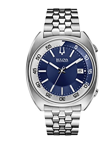 Bulova Accutron II Blue Dial Stainless Steel Men's Watch 96B209 - Accutron Mens Watch