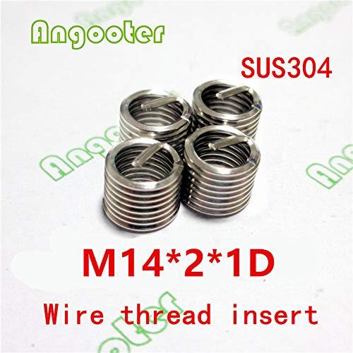 Ochoos 50pcs M1421D Wire Thread Insert Bushing Screws Sleeve Stainless Steel Repair Insert kit Fastener Connection Tools
