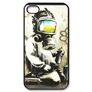 Mural Case For iPhone 4/4s Black Nuktoe735757
