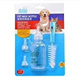 Pet Nurser, PYRUS Dog Nursing Bottle Kit Feeding Bottle Set for Kittens Puppies & Small Animals