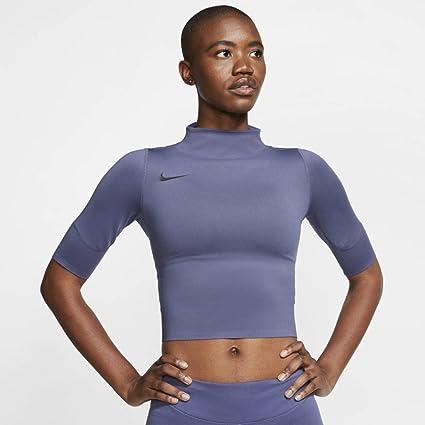 t shirt femme crop violet nike