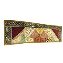 "Vintage Mogul Table Runner Beaded Sequin Embroidery Moroccan Tapestry 60""x18"""