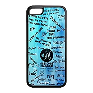Custom Design - 5 Second of Summer os Hard Plastic Case Cover For iphone 4/4s iphone 4/4s (WCA Designed)