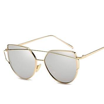 COOLEYE Gafas de Sol Moda Cat Eye Metal Frame Mujer Gafas De ...
