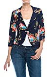 Fashion Boomy Womens Casual Work Office Blazer Jacket Made IN USA (XXXLARGE, F-11-NAVY)