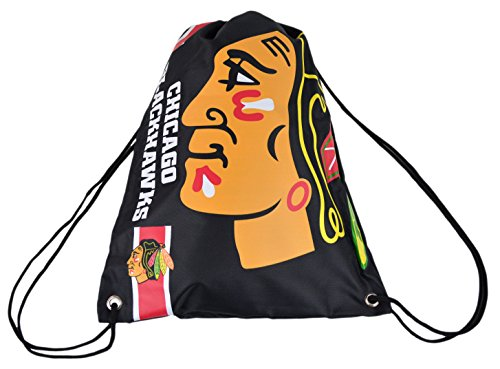 Blackhawks Chicago Bag - Official National Hockey League Fan Shop Authentic Drawstring NHL Back Sack (Chicago Blackhawks)