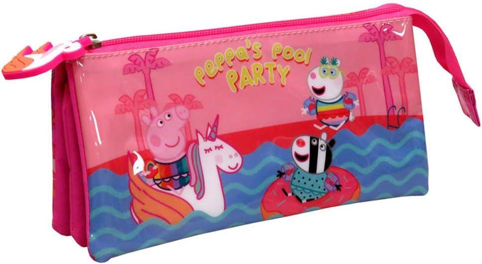 Estuche escolar triple de 22 cm Kid unicornio compatible con Peppa Pig: Amazon.es: Oficina y papelería