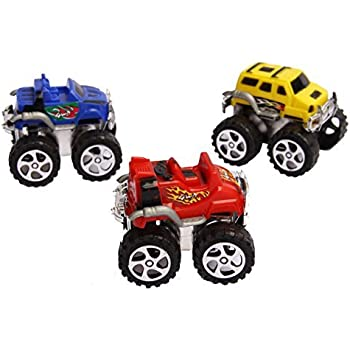 Amazon Com Mini Pull Back Monster Truck Toy Set Assorted Pack