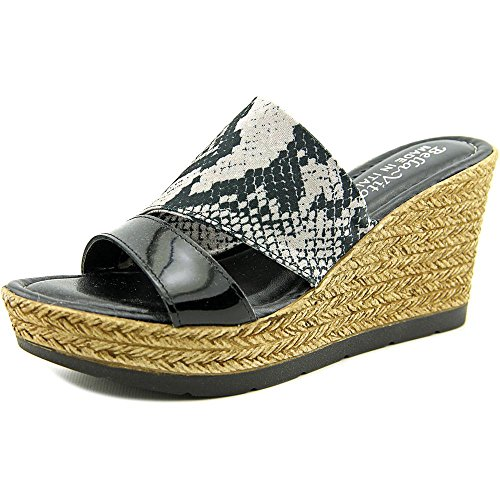 Bella Vita Womens Formia Wedge Sandal Python Black