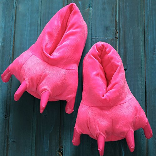Lazutom Unisex Adult Plush Paw Claw House Slippers Animal Costume Shoes Rose a1sGcDZR