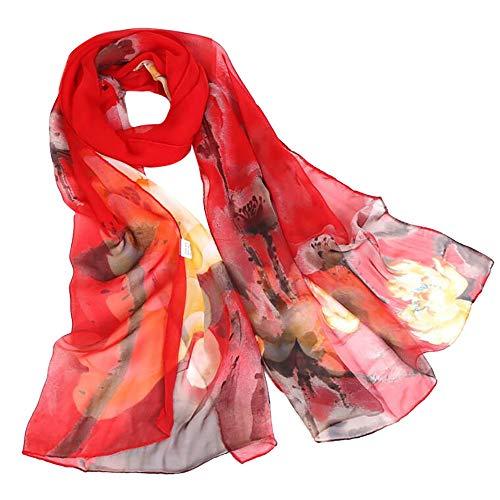 sciarpe Lotus chic stampato leggero Sciarpa A donna elegante Aimee7 Fall lunghe Slim gq6Y8wgX