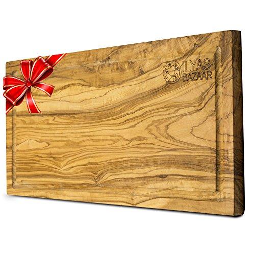 Large Olive Wood Cutting Board - 16