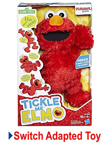 LDK Adapted Toys LLC Switch Adapted Toy Tickle Me Elmo | Adaptive Toys | Special Needs Switch Toys | Switch Toys Red, Medium by LDK Adapted Toys LLC (Image #1)