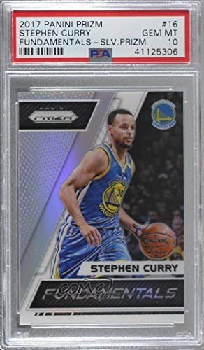 - Stephen Curry Graded PSA 10 GEM MT (Basketball Card) 2017-18 Panini Prizm - Fundamentals - Silver Prizms #16
