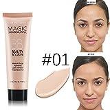 Professional Liquid Foundation Concealer Blemish Balm BB Face Makeup Light Dark Cream Makeup (1#)