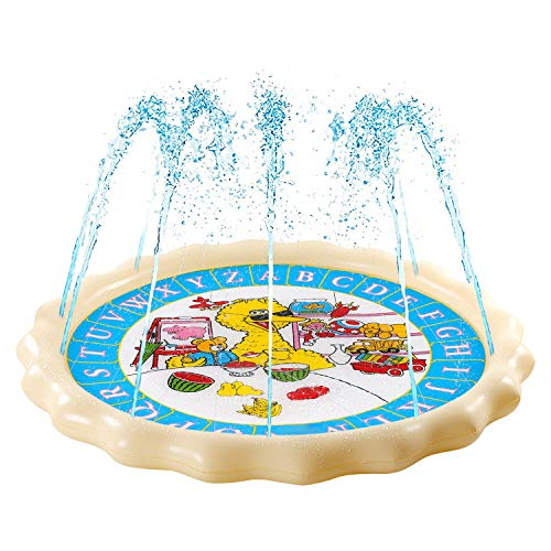 Supkiir Sprinkler Pad for Kids, Splash Play Mat for Learning, Inflatable Water Toys for Boys and Girls-