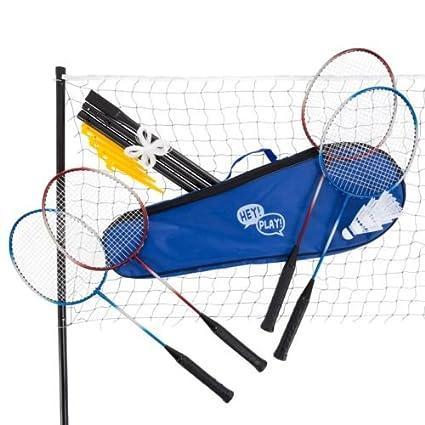 Recreational Badminton Set for Backyard Brand New 4 Rackets Net Case  Outdoors - Amazon.com : Recreational Badminton Set For Backyard Brand New 4