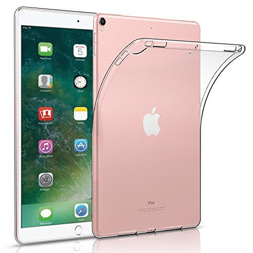 iPad Pro 10.5 Case, TopACE Transparent Soft Gel TPU Silicone Case Cover for Apple New iPad Pro 10.5 Inch, 2017 Release (Clear)