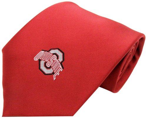 NCAA Men's Ohio State Buckeyes Solid Necktie, Scarlet/Grey