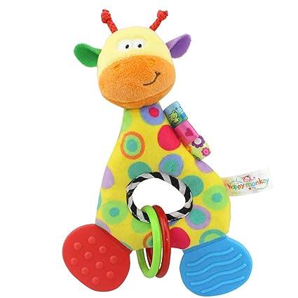Leisial. Juguetes de Sonajero Mordedor Peluche para Niños - Forma Animal para Bebés Recien Nacidos - 14*19.5cm