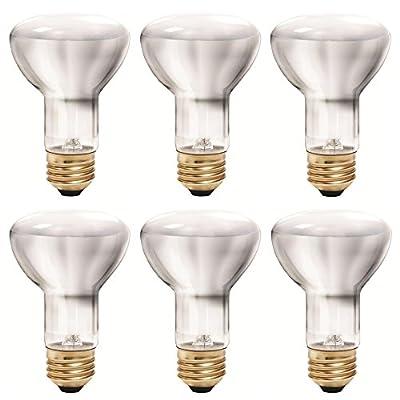Philips 456961 35 Watt Halogen R20 Dimmable Flood Light Bulb, Soft White, 6 Pack
