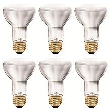 Philips 456961 35-Watt Halogen R20 Flood Light Bulb, Dimmable, 6-Pack