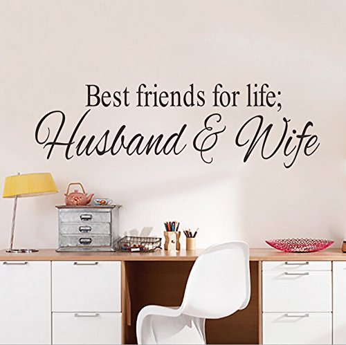 Best Friends for Life Husband and Wife Quotes Wall Decal Best Friends Wall