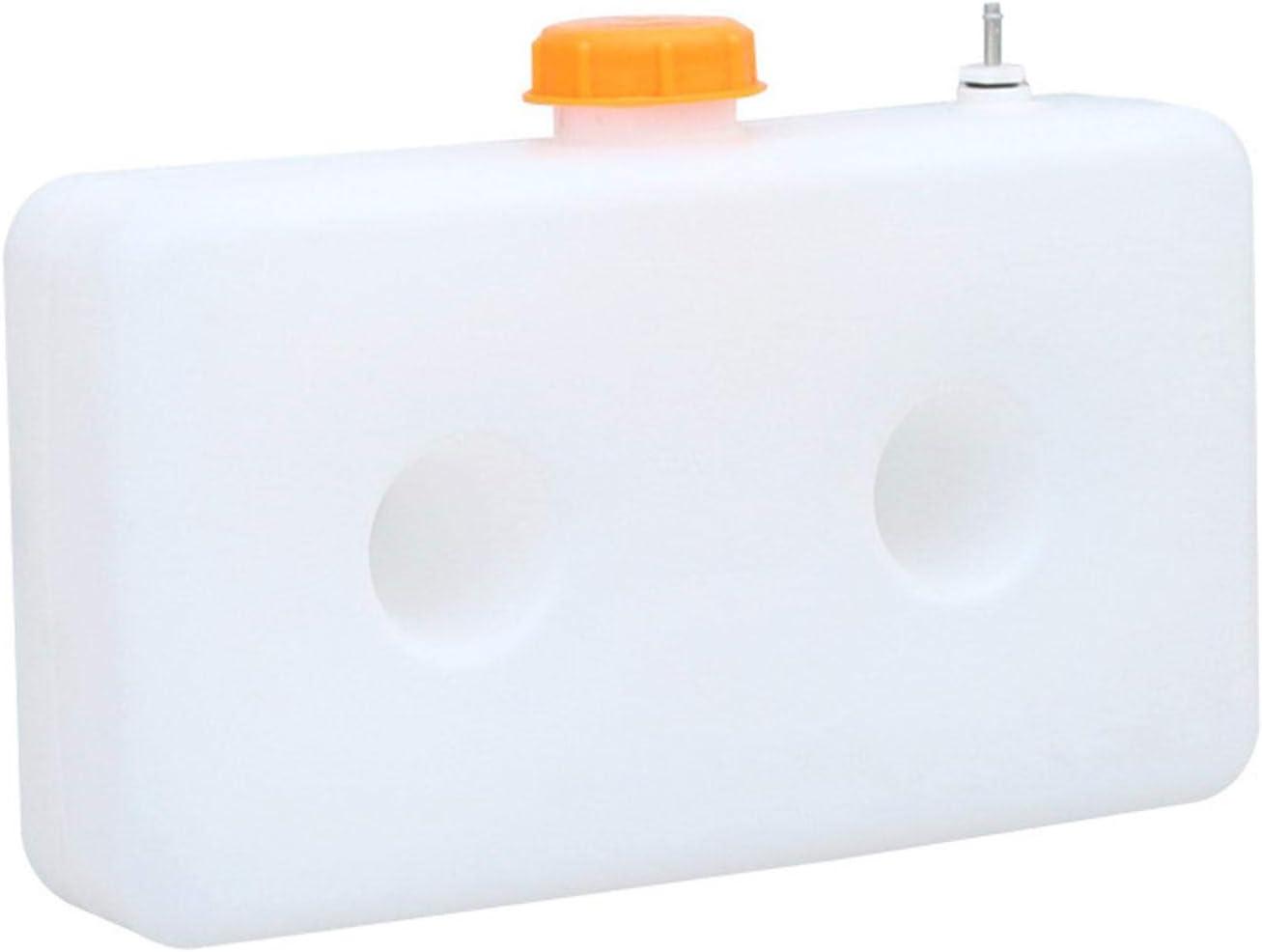 Luckything 7l Kunststoff Heizöl Benzin Tank Für Auto Lkw Luft Diesel Standheizung 7l Fassungsvermögen Weiß Kunststoff Standheizung Kraftstofftank Für Boot Auto Lkw Parkheizung Zubehör Auto