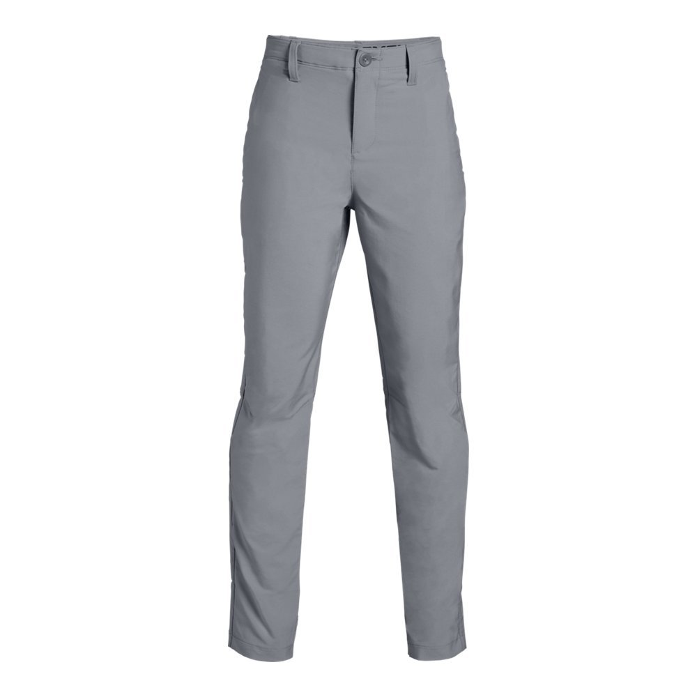 Under Armour Boys Match Play Taper Pants, Steel (035)/Steel, 12